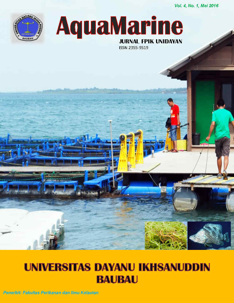 View Vol. 4 No. 1 (2016): AquaMarine (Jurnal FPIK UNIDAYAN)